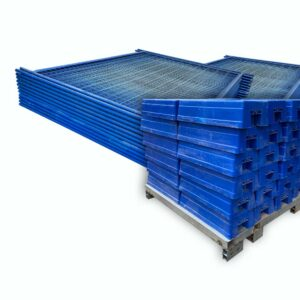 Blue Temporary Fencing Combo